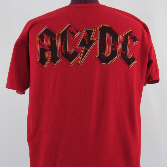 1d28d1db69cb Tultex Shirts | Red Acdc Tshirt L Free Acdc Dvd With Purchase | Poshmark